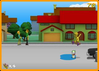 Bart simpson skate poil - Bart simpson nu ...